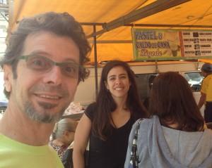 Rizza en Celso op de markt